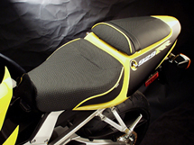World Sport on the Honda CBR 929 RR (Shown with GRIPTEX and yellow welt.)