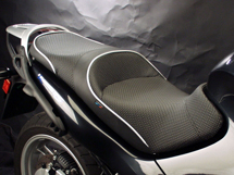 World Sport on the K 1200 RS/GT (Shown with CarbonFX and metallic silver welt)